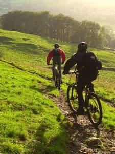 biking, mountain biking