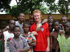 Soccer volunteer in Ghana