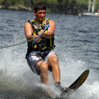 camp waterskiing
